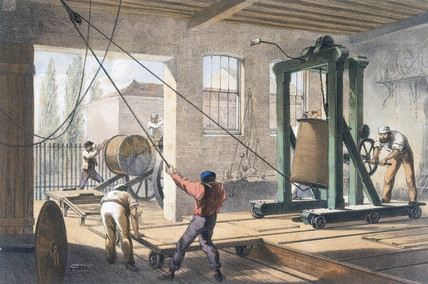 Telegraph wire at the Greenwich works, 1865.
