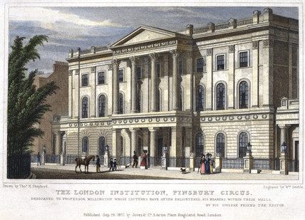 The London Institution, Finsbury Circus, London, 1827.