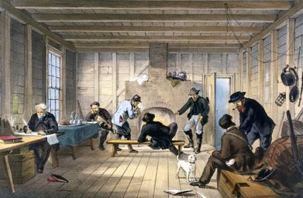 Telegraph House at Trinity Bay, Newfoundland, Canada, 1858.
