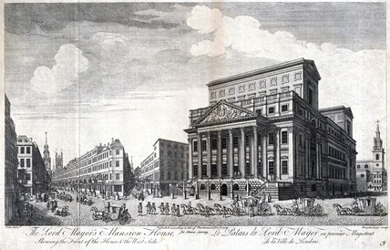 Mansion House, the Lord Mayor of London's residence, London, 1754.