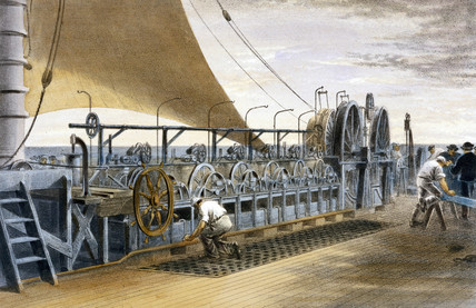 On board Brunel's 'Great Eastern', 1866.
