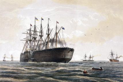 Brunel's 'Great Eastern', 23 July 1866.
