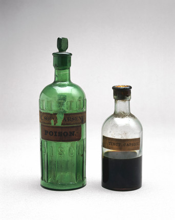 Bottles of arsenic and tincture of capsicum, 1921.