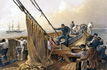 Grappling the abandoned cable, 1866.