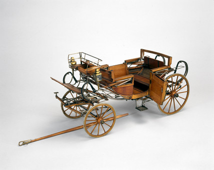 Landau carriage, mid 18th century.