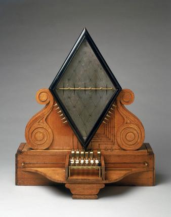 Cooke and Wheatstone five-needle telegraph, 1837.