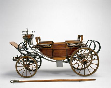 Landau carriage, mid 18th century.