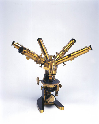 Thury's multi-ocular microscope, c 1885.