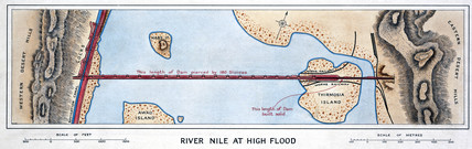 'River Nile at High Flood', Egypt, 1926.