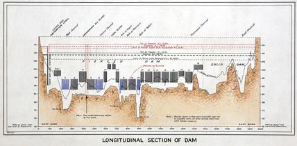 'Longitudinal Section of the Aswan Dam', Egypt, 1926.