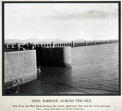 'Esna Barrage acros the Nile', Egypt, early 1920s.