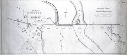 General Site Plan for the Sennar Dam, Sudan, 1925.