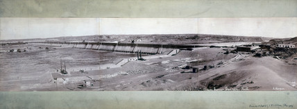 The first Aswan Dam, Egypt, 1912.