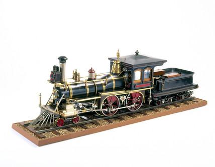 American 4-4-0 locomotive, 1875. Asociated