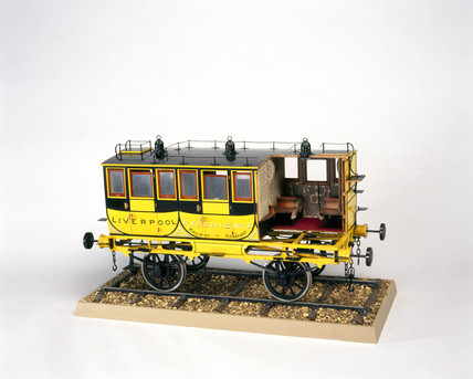 The 'Experience' railway coach, 1834. Model