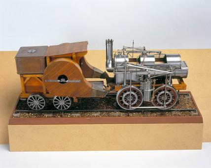 Seguin's Locomotive, 1829. Model (scale 1:1