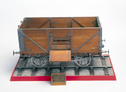 12-ton coal wagon, 1912. Model (scale 1:8).