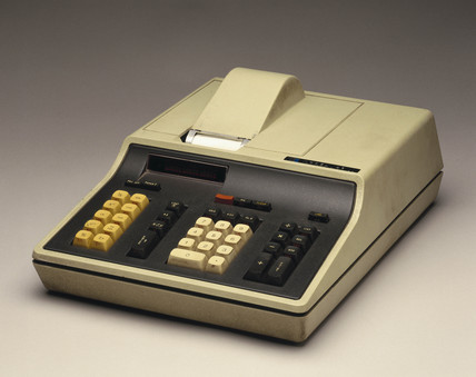 Hewlett Packard HP 46 electronic desktop printing calculator, c 1973.