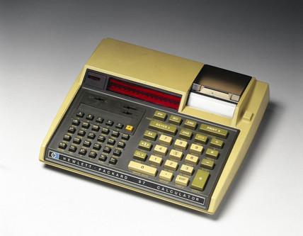 Hewlett Packard HP 97 electronic desktop printing calculator, c 1977.