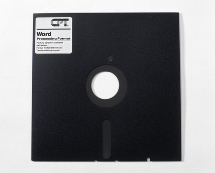 Computer 5.25 ins floppy disk, mid 1980s.