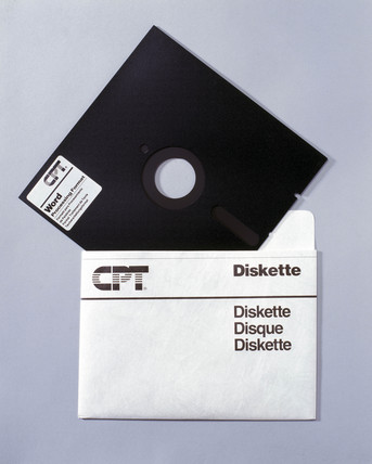 Computer 5.25ins floppy disk, mid 1980s.