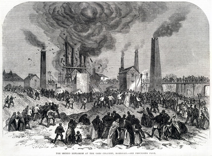 'The Second Explosion at the Oaks Colliery, Barnsley', December 1866.