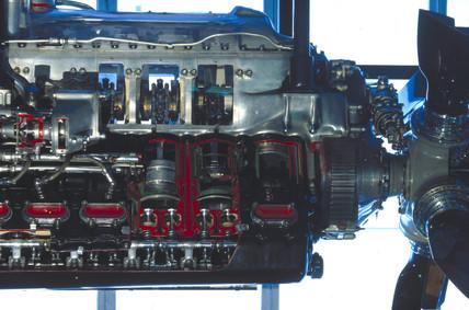 Rolls Royce Merlin III engine, c 1940.