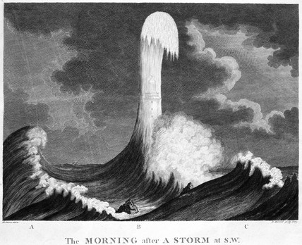 'The Morning after a Storm at S W', Eddystone, 1789.