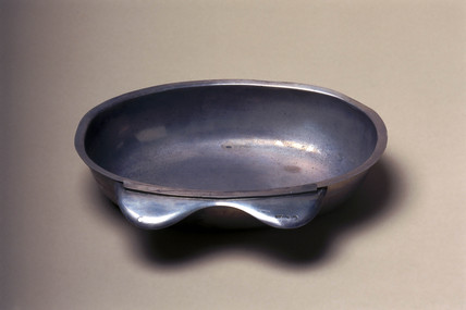 Barber's shaving bowl, French, c 1770-1870.