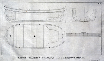 Diagram of yawls used at the Eddystone lighthouse, 1789.