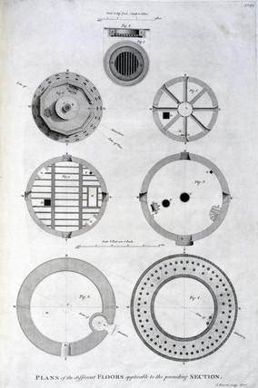 Plan of Spurn Point lighthouse floors, c 1785.