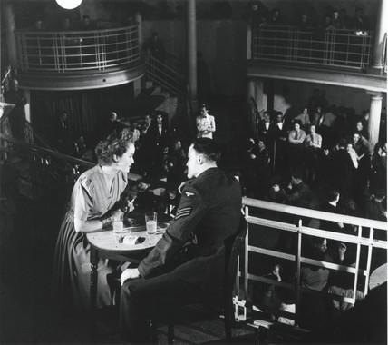 Couple at a dance, Second World War, 1944.