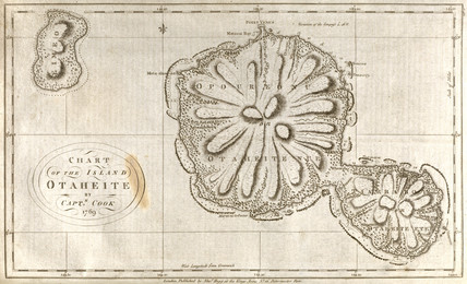 Map of Tahiti, c 1769.