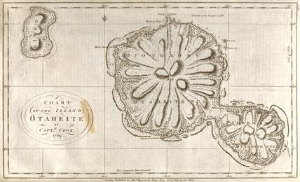 Map of Tahiti, c 1769.