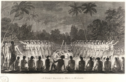 'A Night Dance by Men, in Hapaee', c 1774.