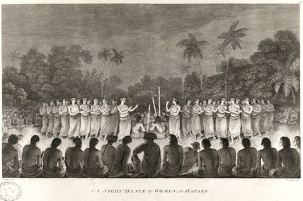 'A Night Dance by Women, in Hapaee', c 1774.