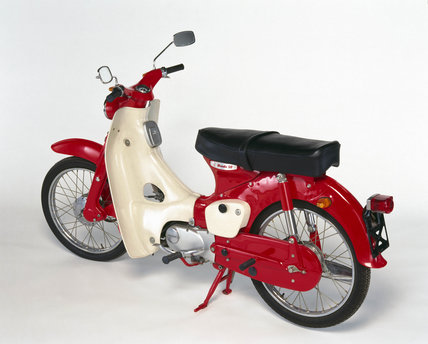 Honda C50 motorcycle, 1965.