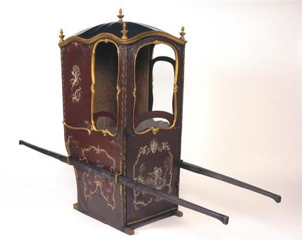 Sedan chair, 17th-18th century.