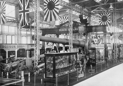Vickers, Sons and Maxim Ltd exhibition stand, Japan-British exhibition, 1910.