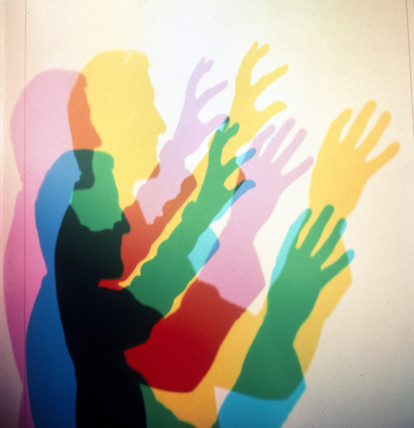 Exploring the way colours mix, 1990s.