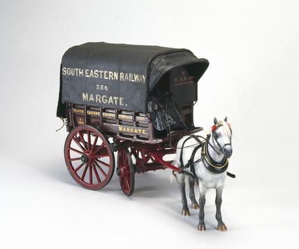Railway delivery van, c 1890.