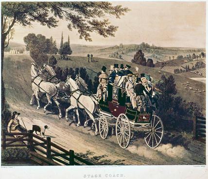 London to Brighton stage coach, 1822.