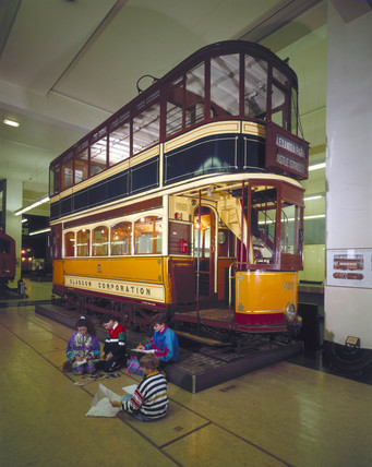 Glasgow double-deck tram (Science Museum / Science & Society)