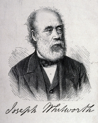 Sir Joseph Whitworth, English mechanical engineer, c 1860s.