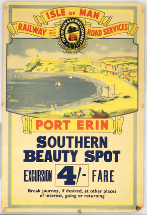 'Port Erin - Southern Beauty Spot'. Colour