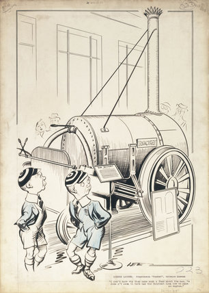 London Laughs - 'Stephenson's Rocket, Science Museum', 1935.