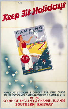 'Keep fit Holidays', SR poster, 1923-1947.