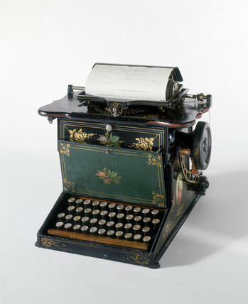 Sholes and Glidden typewriter, 1875.
