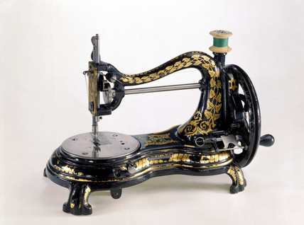 Jones lock-stitch sewing machine, c 1890.