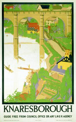 'Knaresborough', LNER poster c 1930s.